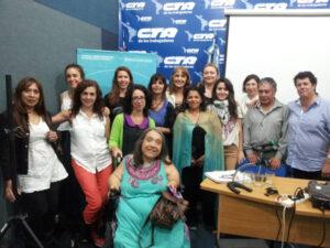 Equipo del Observatorio de la Discriminación en Radio y TV, presentación del Monitoreo de la Discapacidad en TV, 2014.