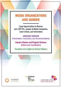 media organization and gender